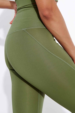 Girlfriend Collective Compressive High Waisted Legging - Olive image 4 - The Sports Edit