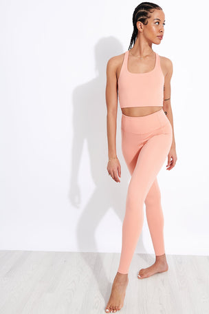 Girlfriend Collective Compressive High Waisted Legging - Sherbert image 2 - The Sports Edit