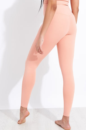 Girlfriend Collective Compressive High Waisted Legging - Sherbert image 3 - The Sports Edit