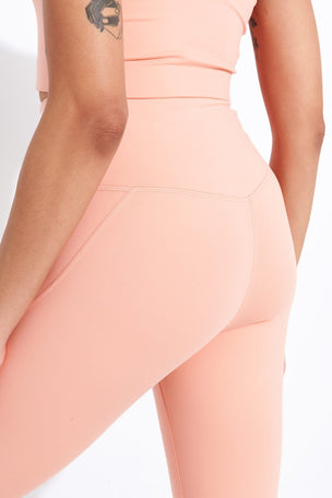 Girlfriend Collective Compressive High Waisted Legging - Sherbert image 4 - The Sports Edit