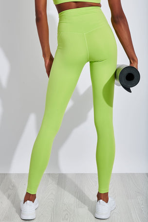 Girlfriend Collective Compressive High Waisted Legging - Lime image 3 - The Sports Edit