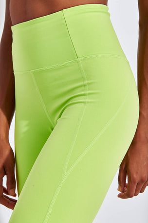 Girlfriend Collective Compressive High Waisted Legging - Lime image 4 - The Sports Edit