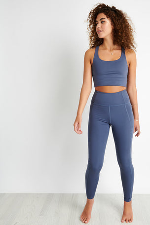 Girlfriend Collective Compressive High Waisted Legging - Tanzanite image 2 - The Sports Edit
