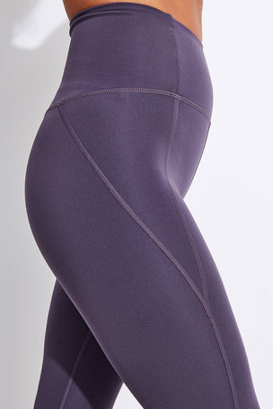 Girlfriend Collective Compressive High Waisted Legging - Dahlia image 4 - The Sports Edit