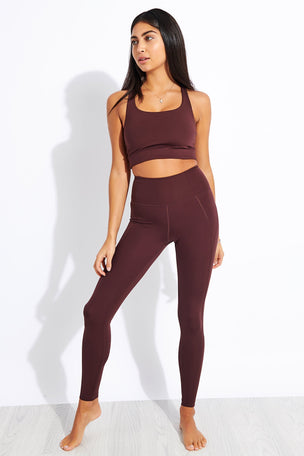 Girlfriend Collective Compressive High Waisted Legging - Cocoa image 2 - The Sports Edit