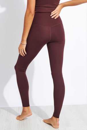 Girlfriend Collective Compressive High Waisted Legging - Cocoa image 3 - The Sports Edit