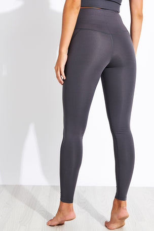 Girlfriend Collective Compressive High Waisted Legging - Smoke image 3 - The Sports Edit
