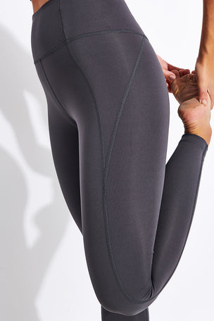 Girlfriend Collective Compressive High Waisted Legging - Smoke image 4 - The Sports Edit