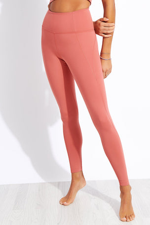 Girlfriend Collective Compressive High Waisted Legging - Clay image 1 - The Sports Edit