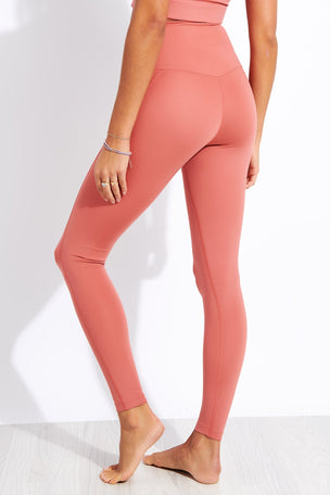 Girlfriend Collective Compressive High Waisted Legging - Clay image 3 - The Sports Edit