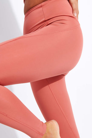 Girlfriend Collective Compressive High Waisted Legging - Clay image 4 - The Sports Edit