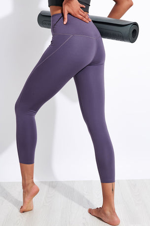 Girlfriend Collective Compressive High Waisted 7/8 Legging - Dahlia image 3 - The Sports Edit