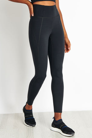 Girlfriend Collective Lite High Waisted Legging - Black image 1 - The Sports Edit