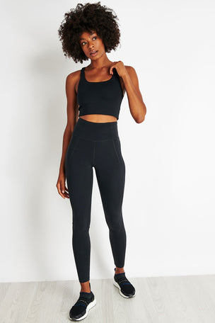 Girlfriend Collective Lite High Waisted Legging - Black image 2 - The Sports Edit
