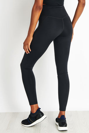Girlfriend Collective Lite High Waisted Legging - Black image 3 - The Sports Edit