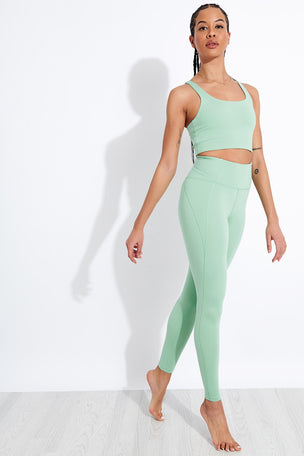 Girlfriend Collective Compressive High Waisted Legging - Foam image 2 - The Sports Edit