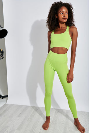 Girlfriend Collective Paloma Bra Classic - Lime image 2 - The Sports Edit