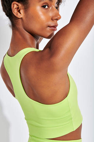 Girlfriend Collective Paloma Bra Classic - Lime image 4 - The Sports Edit
