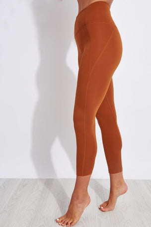 Girlfriend Collective Compressive High Waisted 7/8 Legging - Trail image 1 - The Sports Edit