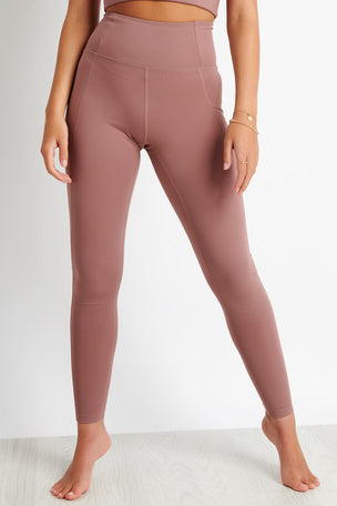 Girlfriend Collective Compressive High Waisted Legging - Rose Quartz image 1 - The Sports Edit