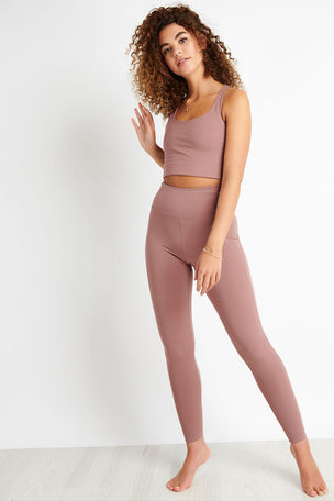 Girlfriend Collective Compressive High Waisted Legging - Rose Quartz image 2 - The Sports Edit