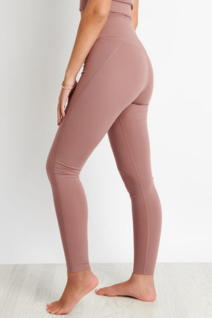 Girlfriend Collective Compressive High Waisted Legging - Rose Quartz image 3 - The Sports Edit