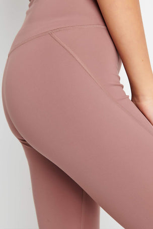 Girlfriend Collective Compressive High Waisted Legging - Rose Quartz image 4 - The Sports Edit