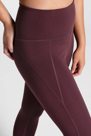 Girlfriend Collective Compressive High Waisted 7/8 Legging - Cocoa image 3 - The Sports Edit