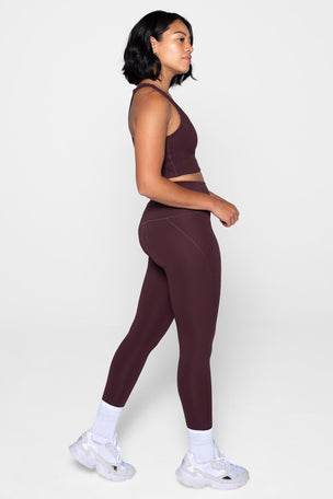 Girlfriend Collective Compressive High Waisted 7/8 Legging - Cocoa image 4 - The Sports Edit