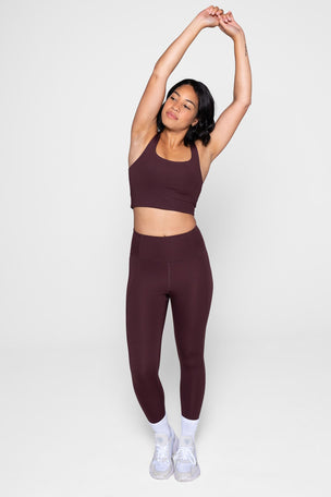 Girlfriend Collective Compressive High Waisted 7/8 Legging - Cocoa image 6 - The Sports Edit