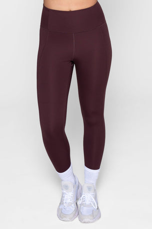 Girlfriend Collective Compressive High Waisted 7/8 Legging - Cocoa image 1 - The Sports Edit