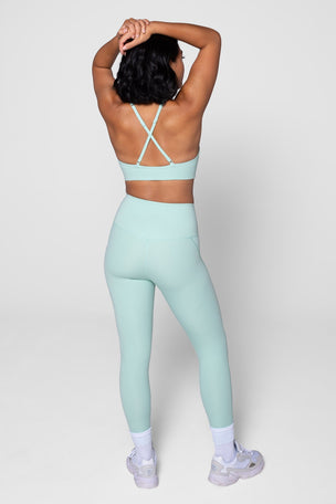 Girlfriend Collective Compressive High Waisted 7/8 Legging - Foam image 2 - The Sports Edit