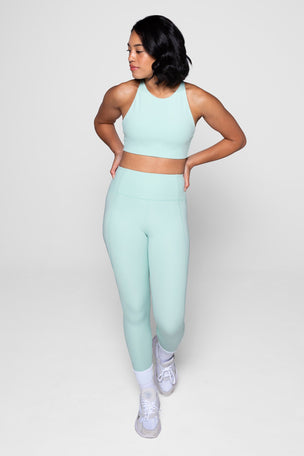 Girlfriend Collective Compressive High Waisted 7/8 Legging - Foam image 4 - The Sports Edit