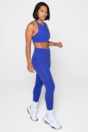 Girlfriend Collective Compressive High Waisted 7/8 Legging - Pansy image 5 - The Sports Edit