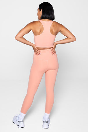 Girlfriend Collective Compressive High Waisted 7/8 Legging - Sherbert image 2 - The Sports Edit