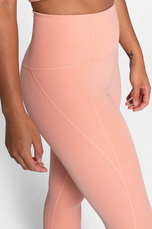 Girlfriend Collective Compressive High Waisted 7/8 Legging - Sherbert image 3 - The Sports Edit