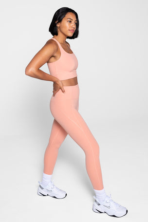Girlfriend Collective Compressive High Waisted 7/8 Legging - Sherbert image 4 - The Sports Edit