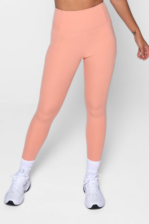 Girlfriend Collective Compressive High Waisted 7/8 Legging - Sherbert image 1 - The Sports Edit