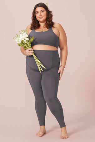 Girlfriend Collective The Maternity Legging - Smoke image 4 - The Sports Edit