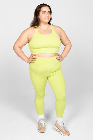 Girlfriend Collective Paloma Bra Classic - Lime image 6 - The Sports Edit