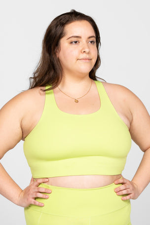 Girlfriend Collective Paloma Bra Classic - Lime image 5 - The Sports Edit