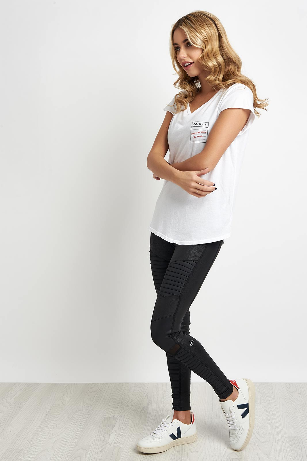 good hYOUman Rounded Relaxed Tee - The Helen image 4 - The Sports Edit