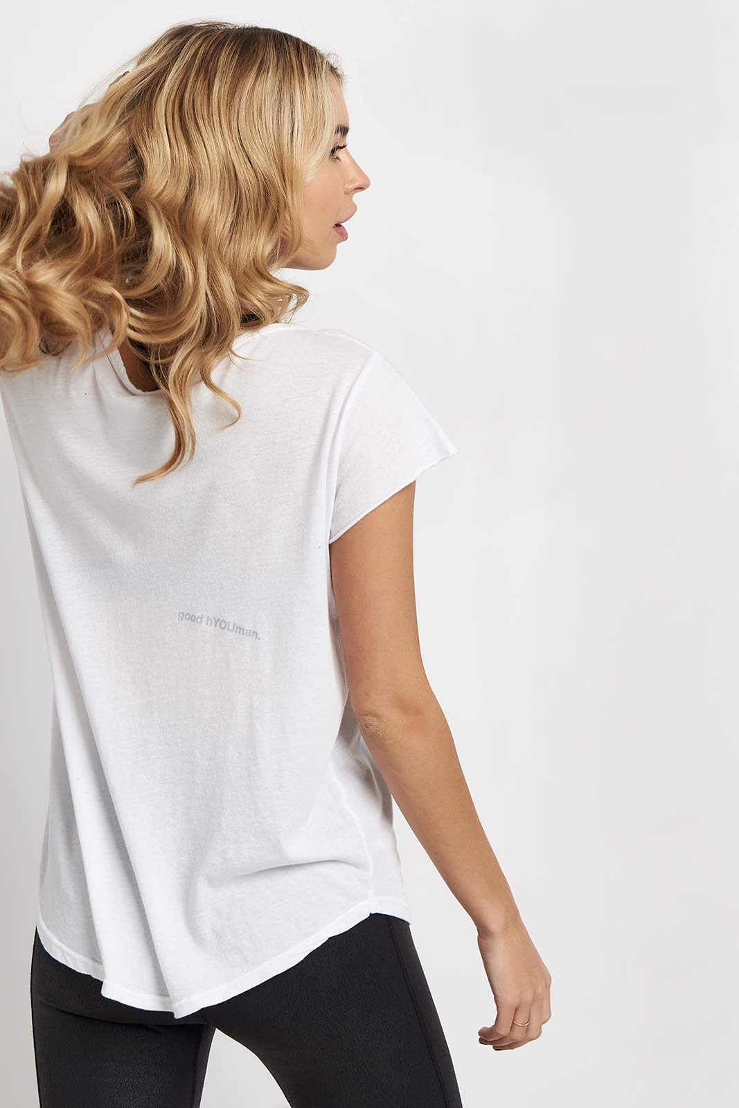 good hYOUman Rounded Relaxed Tee - The Helen image 2 - The Sports Edit