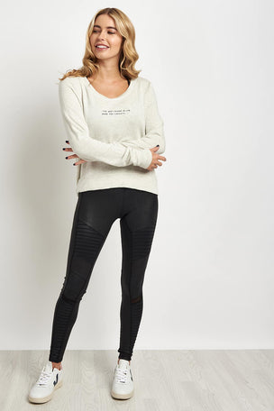 good hYOUman The Jules Open Back Pullover image 4 - The Sports Edit