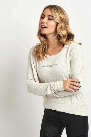good hYOUman The Jules Open Back Pullover image 1 - The Sports Edit