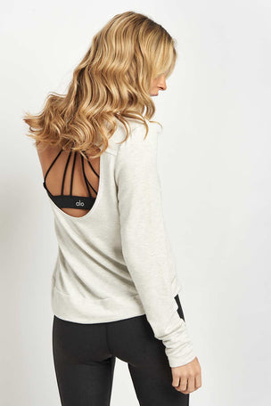 good hYOUman The Jules Open Back Pullover image 2 - The Sports Edit