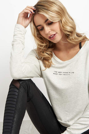 good hYOUman The Jules Open Back Pullover image 3 - The Sports Edit