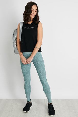 a4be4f40be3dd good hYOUman The Lili Crop Crew Neck Muscle Tank - Black image 2 - The  Sports