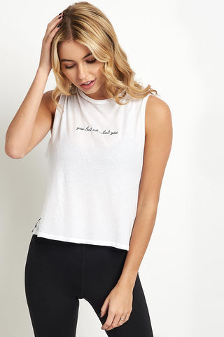 good hYOUman Lili Crop Muscle Tank image 1 - The Sports Edit
