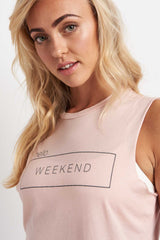 good hYOUman Weekend Pink Muscle Tank image 3 - The Sports Edit